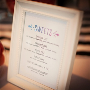 Watercolor Dessert Menu Sign