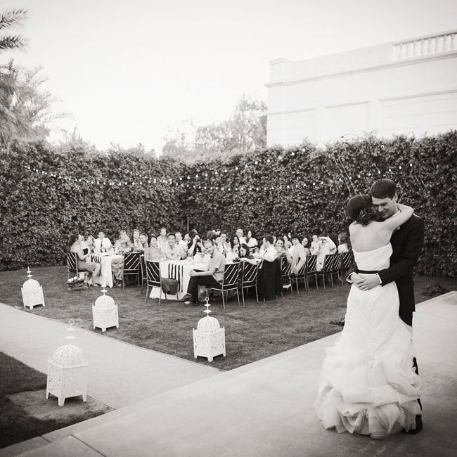 Family and friends watched as Ashley and Steve shared their first dance as newlyweds.