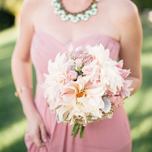 Blush Dahlia Bridesmaid Bouquet