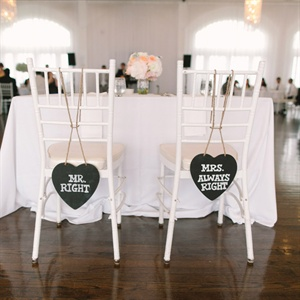 Mr and Mrs Heart Shaped Signs