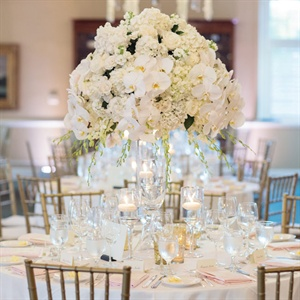 Orchid and Hydrangea Centerpieces