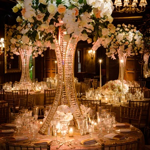 High Garden Rose and Orchid Centerpieces