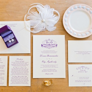 Elegant Purple Invitation Suite