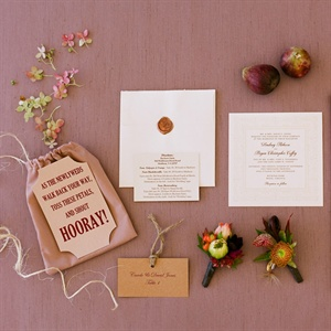 Simple, Rustic Stationery