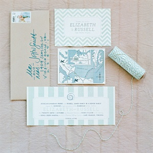 Light Blue Patterned Invitation Suite