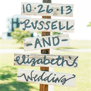 Painted Wooden Wedding Sign
