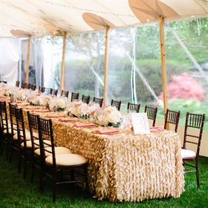 Gold Textured Tablecloth