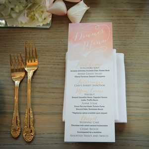 Pink Watercolor Menu Cards