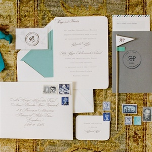 Classic Invitation with Monogram Stamp