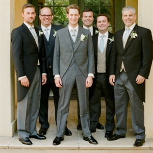 Groomsmen in Morning Suits