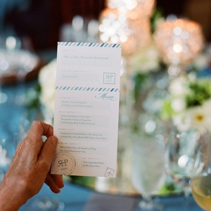 Boarding Pass Escort Cards & Menus