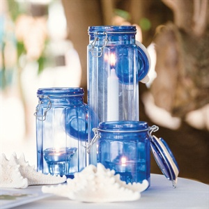 Blue Jar Decor