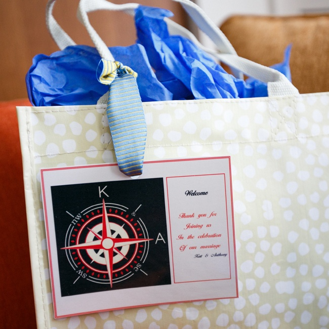 Guests from all over the country were greeted with welcome bags that matched the invitations.
