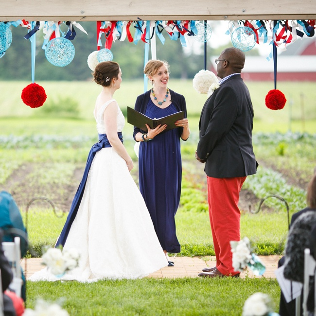 One of the bride's best childhood friends officiated the ceremony.