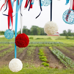 Red, White and Blue Ball Decor
