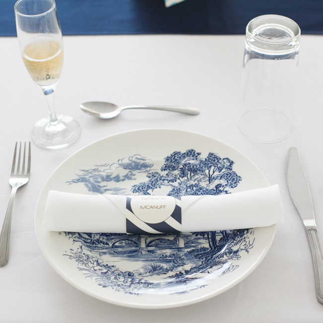 """We used Heritage Prairie Farm's mixed china, so each plate had a somewhat different shape and print,"" Katherine says."