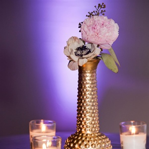 Gold Vase and Candle Votives