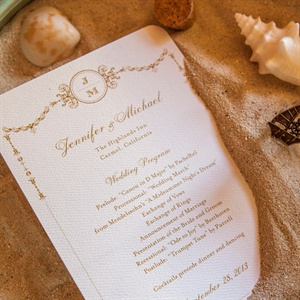 Formal Beach Ceremony Programs