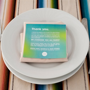 Place Setting and Thank You Card
