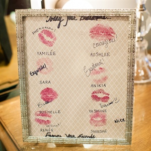 Kiss Frame Gift From Bridesmaids