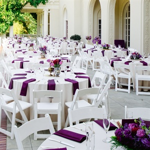 White and Purple Outdoor Reception