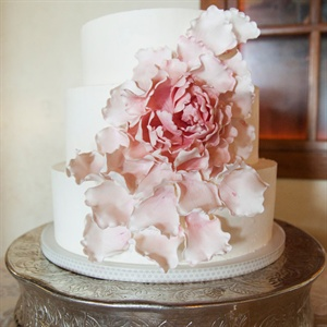 Fondant Flower Wedding Cake