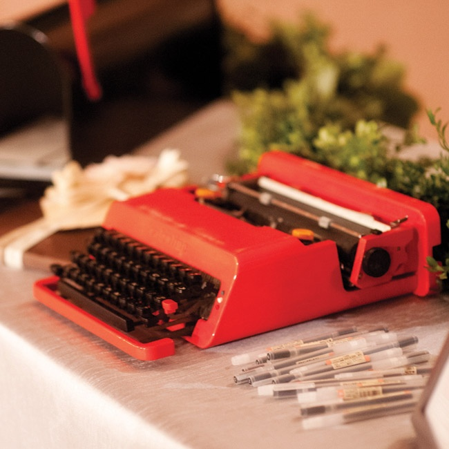 "For their ""guest book,"" the couple had guests write them letters. ""I even shipped my vintage