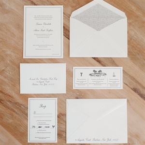 White Invitation Set