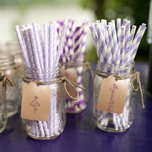 Purple Cocktail Straws