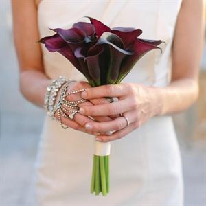 Eggplant Calla Lily Bridal Bouquet