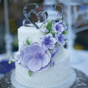 Purple Cake Flowers