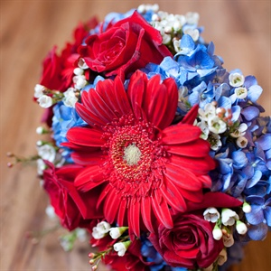 Gerbera and Hydrangea Bridal Bouquet