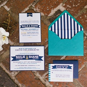 Nautical Invitation Set