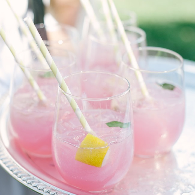 Pink lemonade with vodka and mint, which was dubbed the Brittland Breeze, was the couple's signature drink.