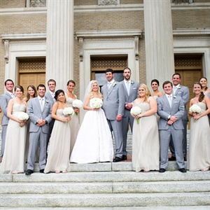 Gray and Beige Wedding Party