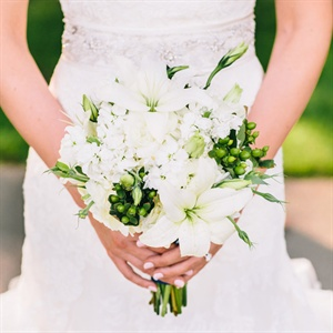 Lily and Hydrangea Bridal Bouquet