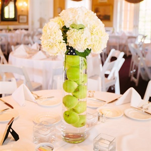 Apple and Hydrangea Centerpieces