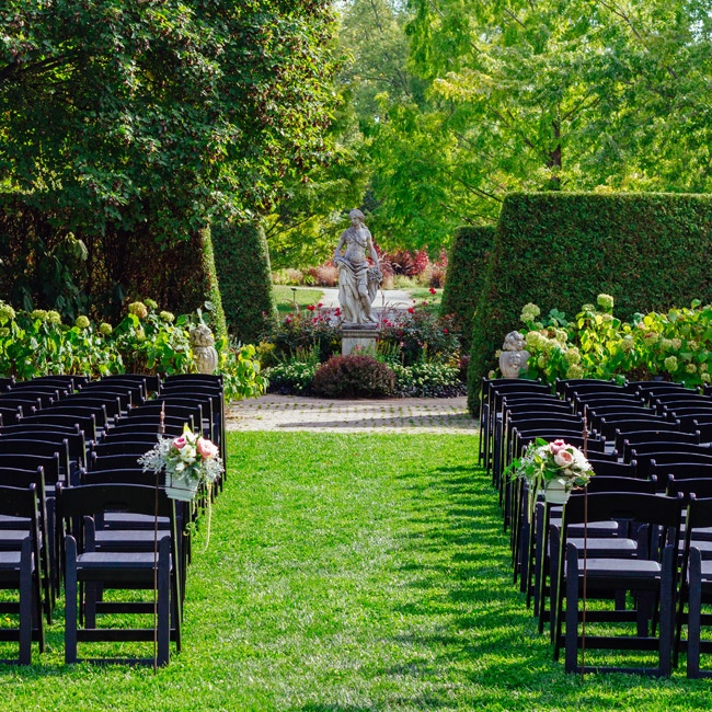 "The couple selected the Toledo Botanical Garden as their ceremony site ""because we felt is was the most beautiful location to get married in Toledo,"" Amy says."