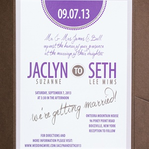 Purple Accent Invitations