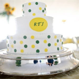 Green and Yellow Polka Dot Cake
