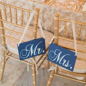 Navy Mr. and Mrs. Signs