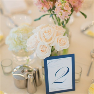 Classic Navy Table Numbers