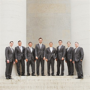 Sleek Gray Groomsmen Attire