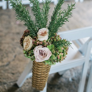 Green and Blush Chair Decor