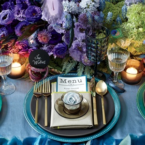 Edgy Jewel-Tone Place Settings