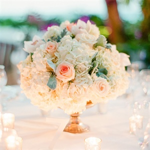 Rose and Hydrangea Centerpieces