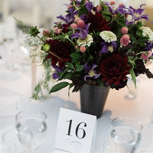 Dark Colorful Centerpieces