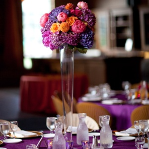 Tall, Bright Centerpieces