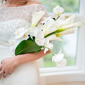 Lily and Orchid Bridal Bouquet