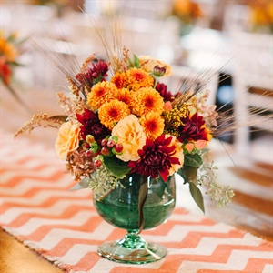 Bright Orange Centerpieces